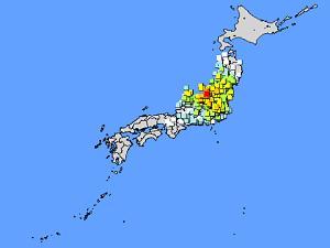 新潟県中越地震午後5時56分頃/気象庁提供