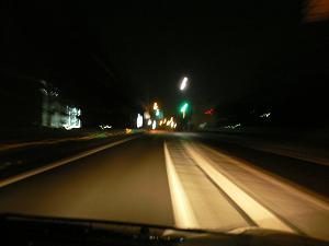 未明の国道1号線