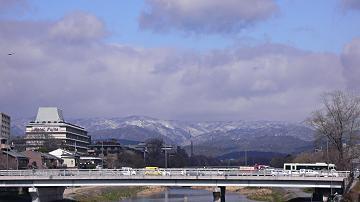 京都の残雪