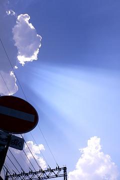 光線照射の画像