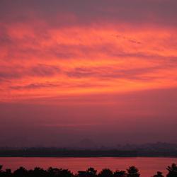 朝焼けの空の画像