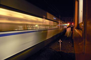 信号機故障の夜の写真