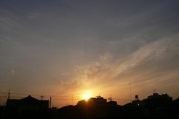 或る日の夕暮れの写真