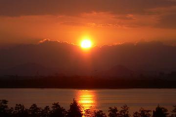 御来光@琵琶湖の写真