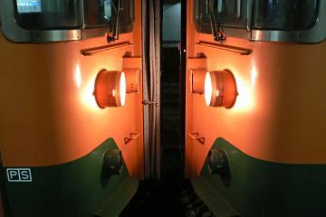 連結部点灯の写真