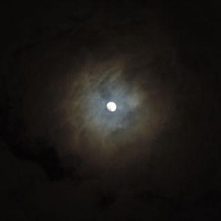 台風一過のお月様の写真