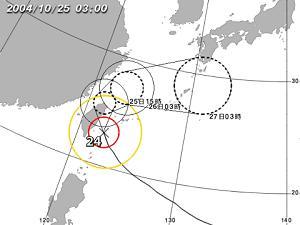 台風24号/気象庁から