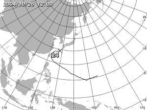 台風24号は温帯低気圧に/気象庁提供